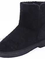 cheap -Women's Shoes PU Winter Fall Snow Boots Boots Low Heel Round Toe Booties/Ankle Boots For Casual Gray Black