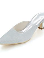 Femme Chaussures Paillette Printemps Eté Escarpin Basique Chaussures de mariage Block Heel Bout carré Pour Mariage Soirée & Evénement Or