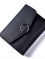 cheap -Women Bags PU Wallet Buttons for Formal Office & Career All Season Blue Black Blushing Pink Gray Dark Red