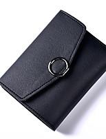 abordables -Mujer Bolsos PU Cartera Botones para Formal Todo el Año Azul Piscina Negro Rosa Gris Rojo oscuro