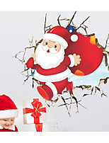 cheap -Christmas Wall Stickers 3D Wall Stickers Decorative Wall Stickers,Vinyl Material Home Decoration Wall Decal