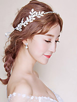 Women's Cubic Zirconia Pearl Headband,Asian Formal Style Classic Style Rhinestone All Seasons