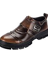 economico -Da uomo Scarpe Pelle Primavera Autunno Comoda Sneakers Per Casual Nero Grigio Marrone