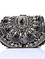 Women Bags Polyester Evening Bag Crystal Detailing Sequins for Wedding Event/Party All Season Black