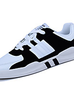 cheap -Men's Shoes PU Spring Fall Comfort Sneakers For Outdoor Almond Gray Black White