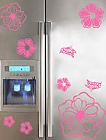 Цветочные мотивы/ботанический Мода Наклейки Простые наклейки Декоративные наклейки на стены,Винил Украшение дома Наклейка на стену For