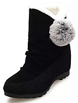 Women's Shoes Nubuck leather Fall Winter Comfort Snow Boots Boots For Casual Red Gray Black