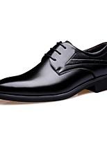 Для мужчин обувь Кожа Микроволокно Все сезоны Формальная обувь Туфли на шнуровке Назначение Для вечеринки / ужина Черный Коричневый