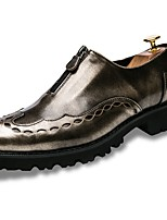 Men's Shoes PU Spring Fall Comfort Loafers & Slip-Ons For Casual Black Gold