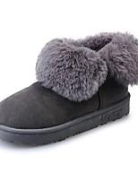 abordables -Mujer Zapatos Cuero Nobuck Invierno Botas de Combate Botas Dedo redondo Mitad de Gemelo Para Casual Negro Gris Verde