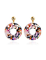 Women's Stud Earrings Drop Earrings Acrylic Metallic Acrylic Alloy Circle Jewelry For Gift Daily