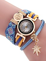 Women's Bracelet Watch Chinese Quartz Fabric Band Vintage Casual Bohemian Black Blue Orange Brown Purple