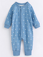 Baby Stars One-Pieces,Cotton Fall/Autumn Long Sleeves