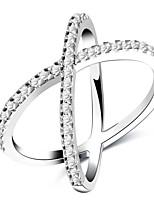 Муж. Жен. Классические кольца Цирконий Простой Милая Мода Elegant Циркон Медь Бижутерия Назначение Свадьба Для вечеринок Обручение