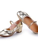 Women's Modern Leatherette Heel Outdoor Splicing Chunky Heel Silver Gold Customizable