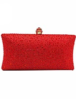 Women Bags Polyester Evening Bag Crystal Detailing for Wedding Event/Party All Season Gold Green Silver Red Purple
