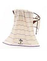Style frais Serviette de bain,Rayures Qualité supérieure Pur Coton Plaine coton 100% Serviette