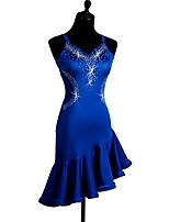 Shall We Latin Dance Dresses Women's Performance Spandex Crystals/Rhinestones Sleeveless Dress