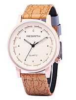 Women's Casual Watch Fashion Watch Wrist watch Chinese Quartz Casual Watch Leather Band Casual Elegant Orange Brown Yellow Beige