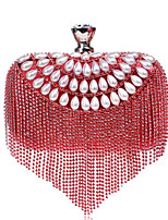 Women Bags All Seasons Polyester Evening Bag Faux Pearl Buttons for Casual Blue Gold Black Silver Red