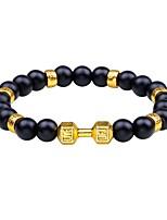 Homme Bracelets de rive Obsidienne simple Cool Agate Forme de Cercle Bijoux Pour Quotidien Carnaval