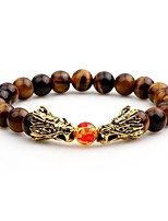 Men's Strand Bracelet Onyx Asian Cool Agate Circle Jewelry For Evening Party Street