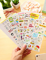 cheap -6 Pcs/Set Cartoon Pig Diary Sticker Phone Sticker Scrapbook Stickers
