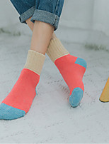 preiswerte -Damen Socken Wolle Mehrfarbig Ultra-Warm,2pcs Rosa Khaki
