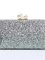Women Bags Polyester Evening Bag Pearl Detailing Sequins for Wedding Event/Party All Season Gold Green Fuchsia