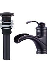 Ceramic Valve Black , Bathroom Sink Faucet