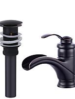 preiswerte -Keramisches Ventil Schwarz , Waschbecken Wasserhahn