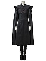 Cosplay GOT Dragon Mother One Piece Dress Cosplay Costume Costume Movie Cosplay Gray & Black Dress Pants Cloak Boots Halloween Carnival