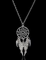 женские подвесные ожерелья с крыльями / перьями из бисера из бисера