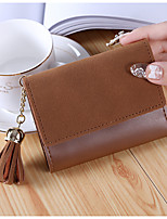 cheap -Women Bags PU Wallet Tassel for Shopping Casual All Season Gray Purple Dark Green Coffee Wine