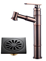 cheap -Centerset Widespread Ceramic Valve Single Handle One Hole Oil-rubbed Bronze , Bathroom Sink Faucet