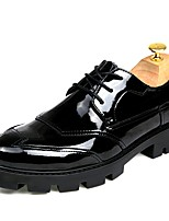 Men's Shoes PU Spring Fall Formal Shoes Oxfords Lace-up For Casual Black