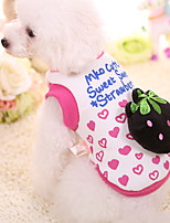 Chien Sweatshirt Vêtements pour Chien Décontracté / Quotidien Fruit Fuchsia Rose Costume Pour les animaux domestiques