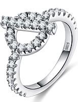 Жен. Классические кольца Обручальное кольцо Цирконий Стразы Цирконий Бижутерия Назначение Свадьба Для вечеринок