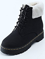 cheap -Women's Shoes Rubber Winter Combat Boots Boots Round Toe For Outdoor Dark Brown Gray Black