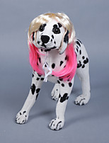 Dog Toy Tiaras & Crowns Wig Dog Clothes Stylish Striped Pink Costume For Pets