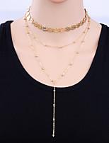 Жен. Ожерелья-бархатки Сплав Простой Elegant Бижутерия Назначение Повседневные