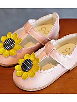 cheap -Girls' Shoes Leatherette Spring Fall Comfort Flower Girl Shoes Flats For Casual Pink Black White