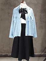 Women's Daily Simple Casual Winter Fall Denim Jacket,Solid Shirt Collar Long Sleeve Short Cotton