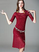 Danza del Vientre Accesorios Mujer Actuación Algodón Modal Encaje Encaje Separado La mitad de manga Vestido