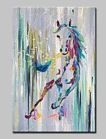 Hand-Painted Animal VerticalModern One Panel Canvas Oil Painting For Home Decoration