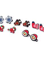 cheap -Women's Stud Earrings , Cute Cartoon New Year Christmas Resin Snowflake Earrings