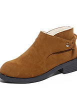 cheap -Women's Shoes PU Spring Winter Comfort Boots For Outdoor Burgundy Light Brown Black