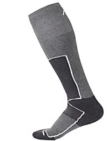 Недорогие -Однотонный Носки для катания на лыжах Муж. Носки Зима Воздухопроницаемость Впитывает пот и влагу Смесь хлопка Снежные виды спорта Катание