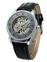 WINNER Hombre Mujer Reloj Casual Reloj de Moda Reloj de Pulsera Cuerda Automática Piel Banda Casual Cool