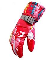 Недорогие -Зимние Лыжные перчатки Жен. Полный палец Кожа Сохраняет тепло С защитой от ветра Влагопроницаемость Дышащий Лыжи Водонепроницаемый
